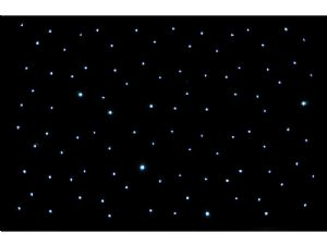 6m x 3m Star Cloth White Flashing Leds Black Cloth Drape and Stand (Hire Cost per Day)